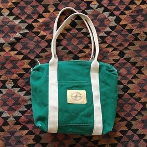 vintage • virgin islands green beach tote bag